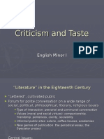 Curs 3 - Criticism and Taste