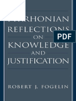 Robert J. Fogelin - Pyrrhonian Reflections on Knowledge