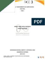 Fase Final, ensamble y mantenimiento de computadores Yamid Castillo