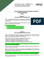 Orientações Gerais e Regulamento Do I Desafio de Ordem Unida Da Aceam