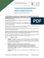 Interpretaciones FIBA 2014