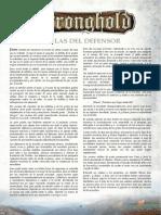 Reglas Stronghold Libro Defensor Español