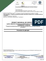Formular Aplicatie Bursa Postdoctorala Proiect Individual de Cercetare