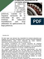 Motores de Inducción Monofásicos de Corriente Alterna