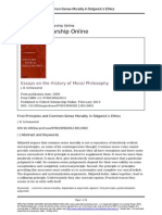 Cap. 2 First Principles and CommonSense Morality in Sidgwicks Ethics