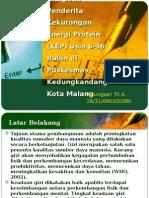 Penatalaksanaan Gizi Pada Penderita Kekurangan Energi Protein (