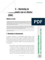 Aula Nº 14 – Marketing de Relacionamento Com Os Clientes (CRM)