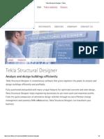 Tekla Structural Designer _ Tekla