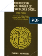 UNFV ANTROPOLOGIA Dumont, Louis - Introducción a Dos Teorías de La Antropología Social