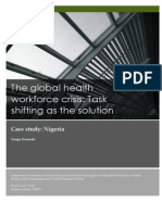 The global health workforce crisis Task shifting as the solution Nigeria case study