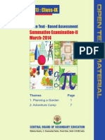 Mathematics Class Ix Open Text Based Assessment Sa II March 2014