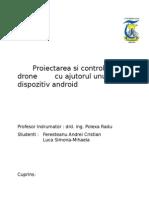 Proiectarea si controlul unei drone