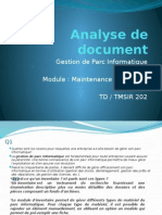 Analyse de Document GEStion Parc1