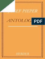 Pieper, Josef. Antologia