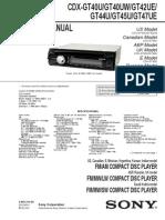 Sony Cdx-gt45u