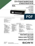 sony cdx gtmp service manual