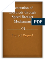 speed breaker power generation