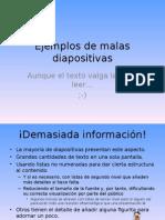 Ejemplos de Malas Diapositivas