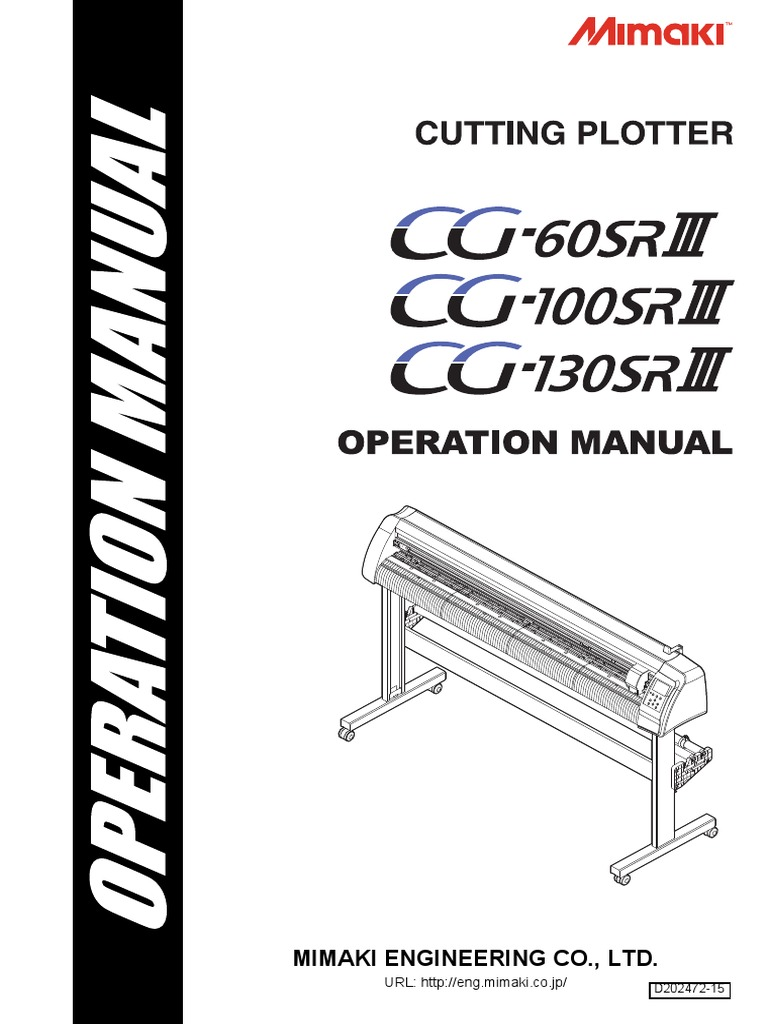 Mimaki CG-SRIII Operation Manual | Electromagnetic