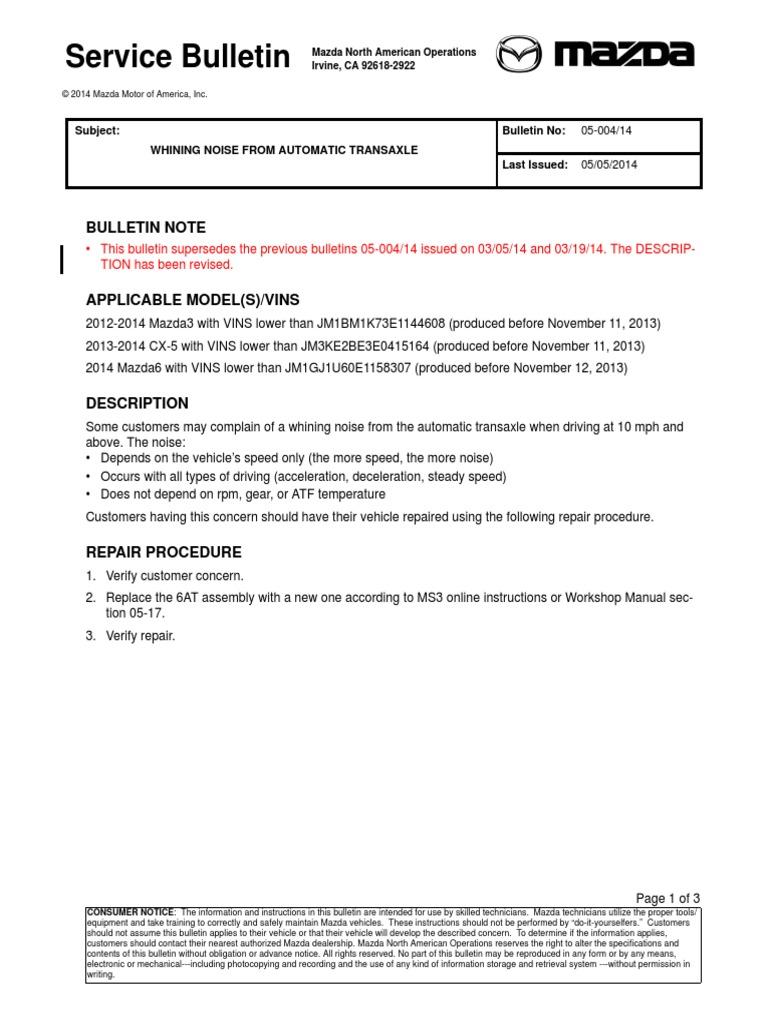 Rechinido Proveniente Del Eje Transversal | Automatic Transmission