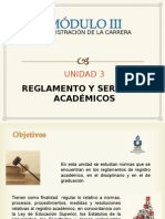 Administración de La Carrera u3 (Presentaciones)