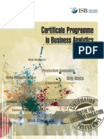 Certification in Business Analytics