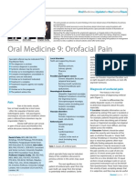 Dent Update 2013. Oral Medicine 9. Oro-Facial Pain