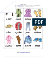 Clothes Cards Easy