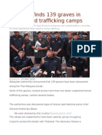 Malaysia Finds 139 Graves in Abandoned Trafficking Camps