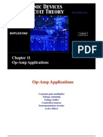 Electronic Devices and Circuit Theory 10th Edition Boylestad Louis Chapter 11 Op AMP Applications