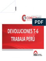 Devoluciones Trabaja Peru T-6