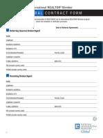 International Realtor Referral Form