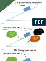 Diagramas de Cuerpo Libre - Plano Inclinado -Peso -Fuerza - Rozamiento. Rev 2