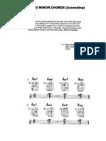 Acordes de Paso La menor dominantes 6, 7 y 9
