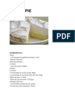 Lemon Pie - Torta de Ricota