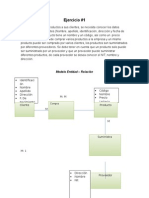 Ejercicios de Modelo Entidad Relacion y Modelo Relacional