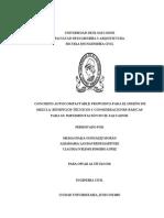 Concreto autocompactable propuesta para el uso de mezcla. beneficios técnicos y consideraciones básicas para su implementación en El Salvador