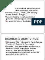 Bronkitis Akut Pada Anak