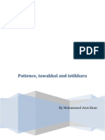 Patience Tawakkal and Istikhara