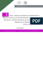 Etapas Aspectos Metodos Instrumentos Primera Vez Ba