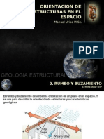 ORIENTACION DE ESTRUCTURAS EN EL ESPACIO
