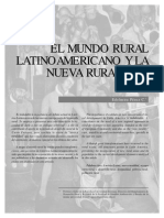 El Mundo Rural Latinoamericano y La Nueva Ruralidad - Pérez