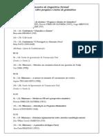 Encontro de Linguística Formal - Programação