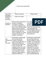 classroom literacy plan