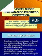 Shock Hemorragico en Obstetricia. - Dr. Patricia Urteaga Vargas