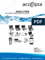 Accepta Water Analysis Equipment Test Reagents Catalogue