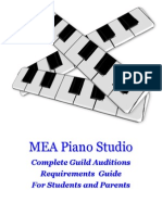 Guild Auditions Requirement Guide For MEA Piano Studio