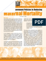Philippine Government Policies in Reducing Maternal Mortality