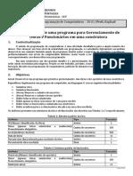 Programa de Gerenciamento de Obras