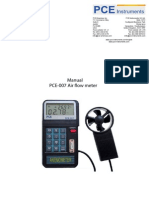 Manual Air Flow Meter Pce 007
